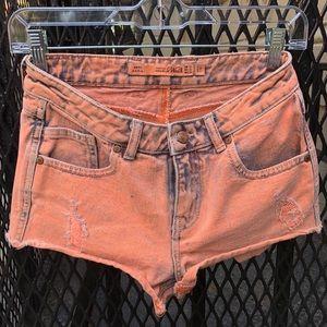 Zara high waisted denim booty short